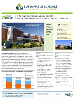 Sustainable Schools - Beaver Creek Secondary School - Case Study