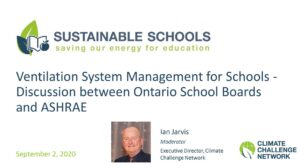Sustainable Schools - Ventilation System Management for Schools